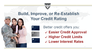 Secured Military Credit Cards for Building Credit